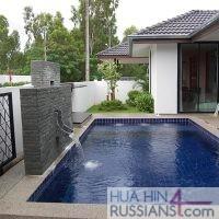 Аренда виллы на 3 спальни в центральной части Хуа Хина в Mil Pool Villa — 80107