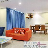 Аренда квартиры на 2 спальни в центре Хуа Хина в Mykonos Condo с видом на море — 70745