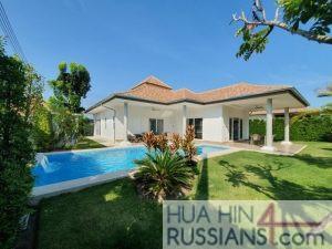 Аренда дома с бассейном на 3 спальни на западе Хуа Хина в Mali Residence Hua Hin — 80128 на  за 60000