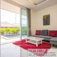 Аренда виллы на 3 спальни с бассейном на юге Хуа Хина в Mil Pool Villa — 80127
