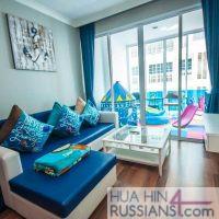 Аренда квартиры с 2 спальнями на юге Хуа Хина в My Resort Hua Hin — 70752