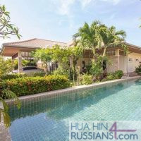 Аренда дома с бассейном на 3 спальни на западе Хуа Хина в Orchid Palm Homes Hua Hin — 80129