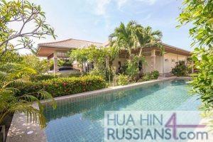 Аренда дома с бассейном на 3 спальни на западе Хуа Хина в Orchid Palm Homes Hua Hin — 80129 на  за 55000