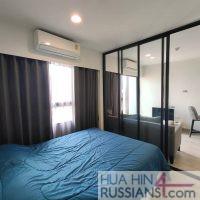 Аренда квартиры с 1 спальней в кондо Дусит Д2 в центре Хуа Хина — 70769